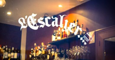 L'escalier salon & bar à Chartres.