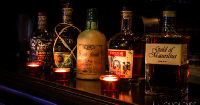 Bouteilles de rhums du Bar chartres le Cubana